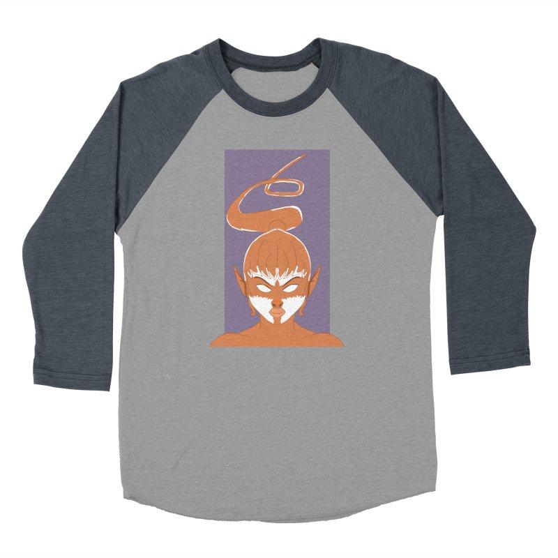 ELF GIRL Women's Baseball Triblend Longsleeve T-Shirt by droidmonkey's Artist Shop