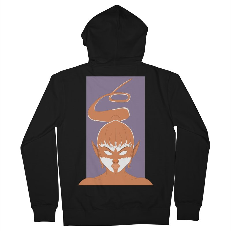 ELF GIRL Women's French Terry Zip-Up Hoody by droidmonkey's Artist Shop