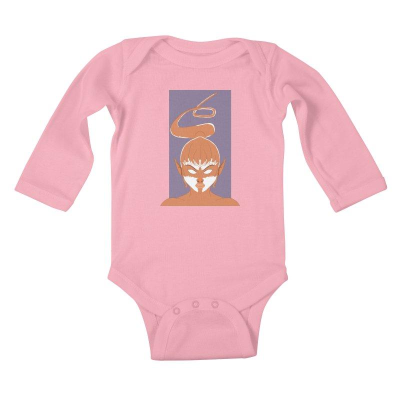 ELF GIRL Kids Baby Longsleeve Bodysuit by droidmonkey's Artist Shop