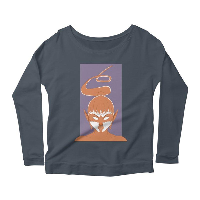 ELF GIRL Women's Scoop Neck Longsleeve T-Shirt by droidmonkey's Artist Shop