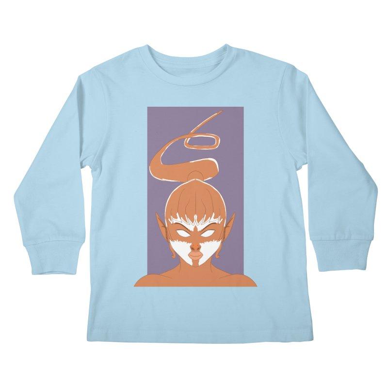 ELF GIRL Kids Longsleeve T-Shirt by droidmonkey's Artist Shop