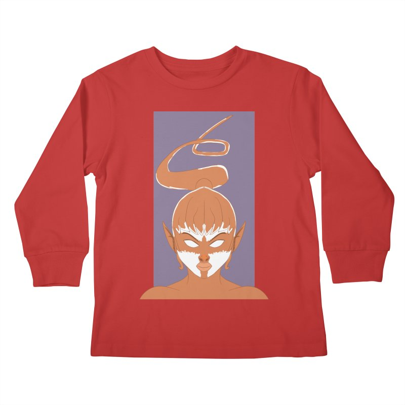 ELF GIRL Kids Longsleeve T-Shirt by droidmonkey's Artist Shop