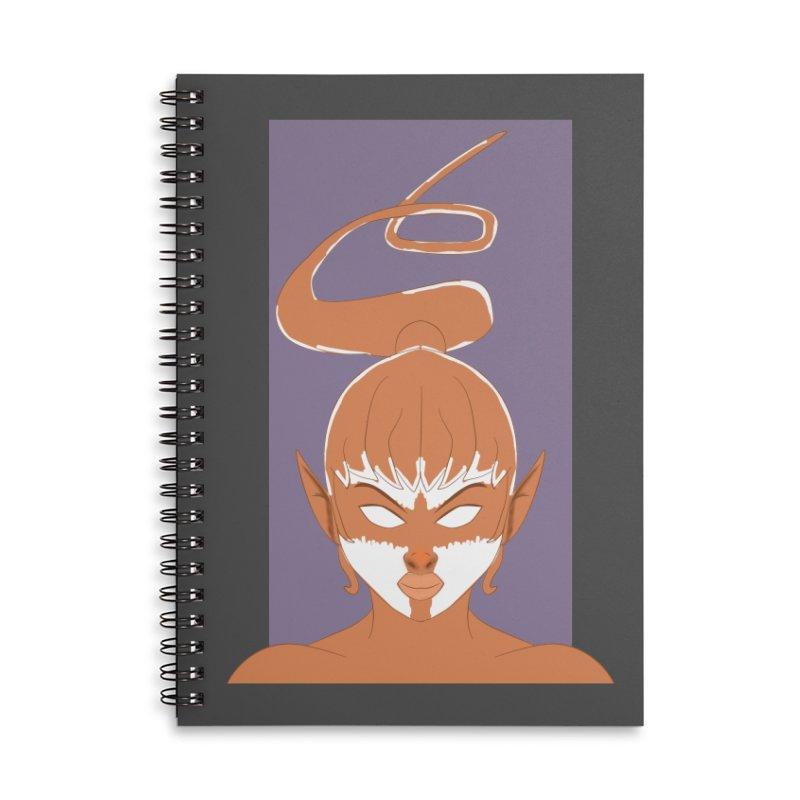 ELF GIRL Accessories Lined Spiral Notebook by droidmonkey's Artist Shop