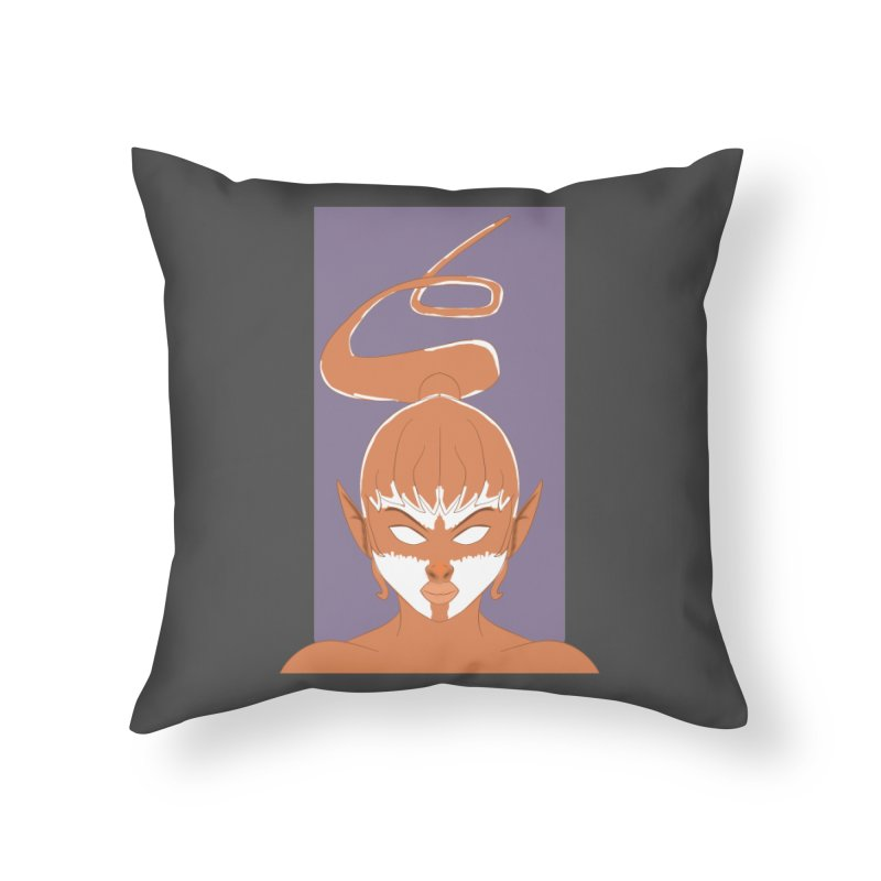 ELF GIRL Home Throw Pillow by droidmonkey's Artist Shop