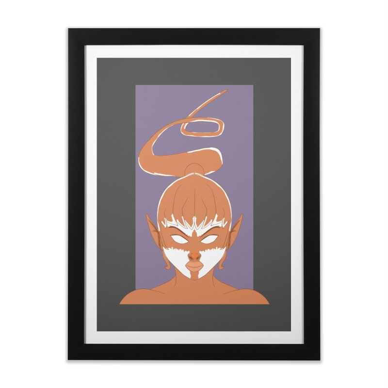 ELF GIRL Home Framed Fine Art Print by droidmonkey's Artist Shop