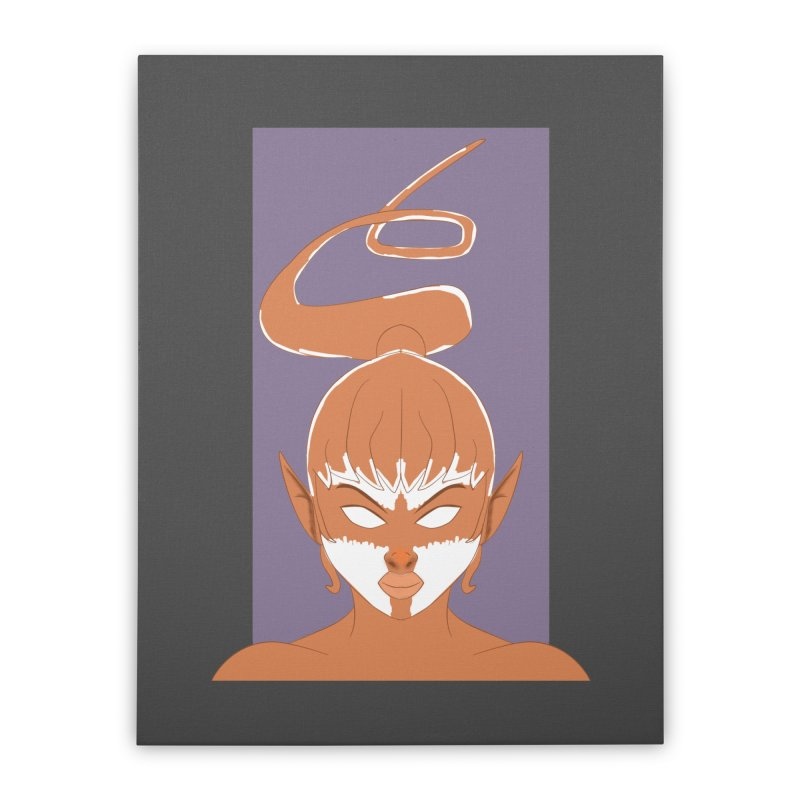 ELF GIRL Home Stretched Canvas by droidmonkey's Artist Shop