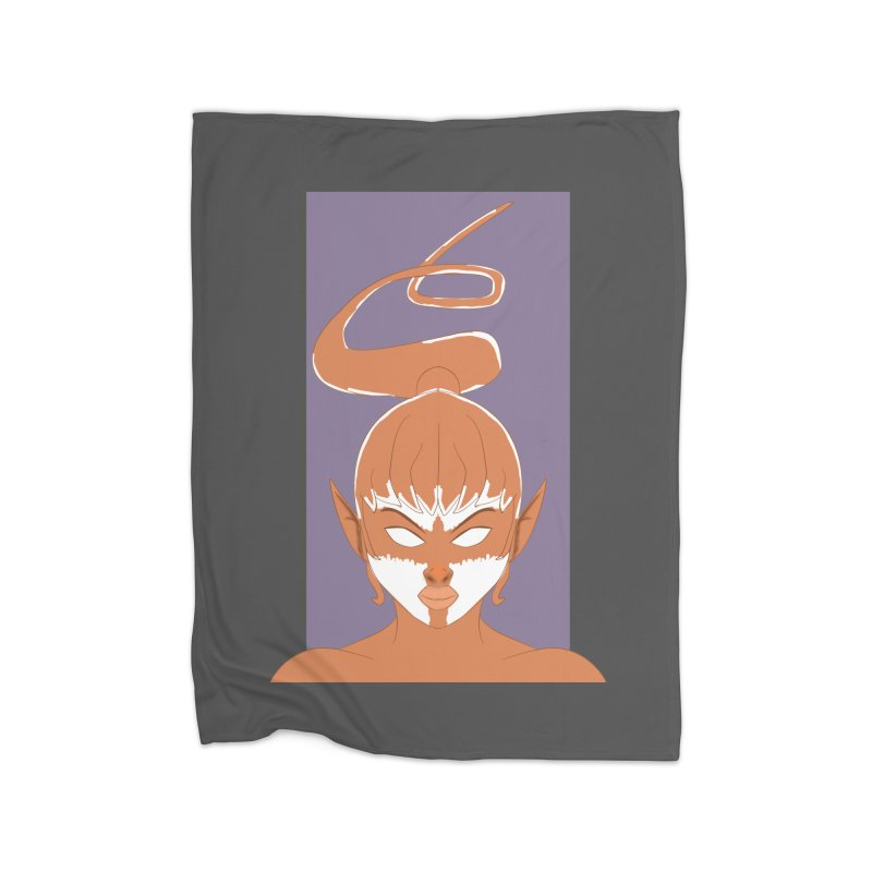 ELF GIRL Home Fleece Blanket Blanket by droidmonkey's Artist Shop
