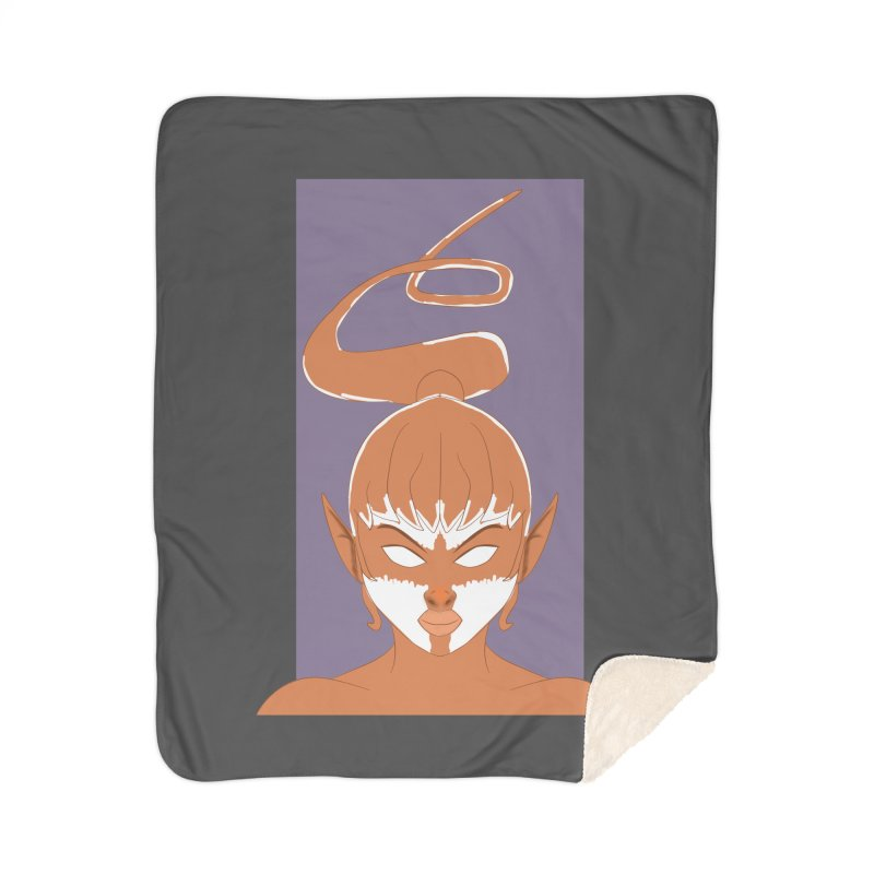 ELF GIRL Home Sherpa Blanket Blanket by droidmonkey's Artist Shop