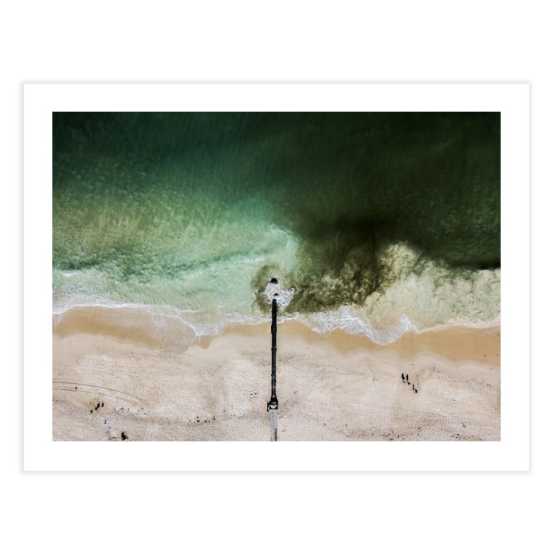 Man Influences Water - Floreat Home Fine Art Print by dronenr's Artist Shop