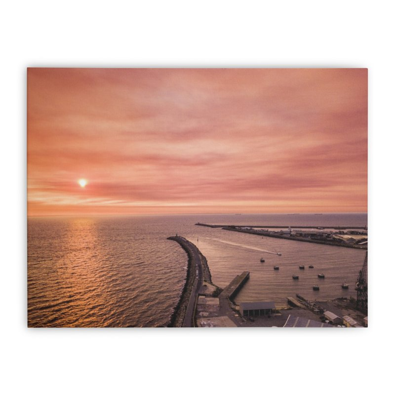 Sunset - Fremantle Home Stretched Canvas by dronenr's Artist Shop
