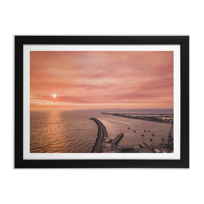 Sunset - Fremantle Home Framed Fine Art Print by dronenr's Artist Shop