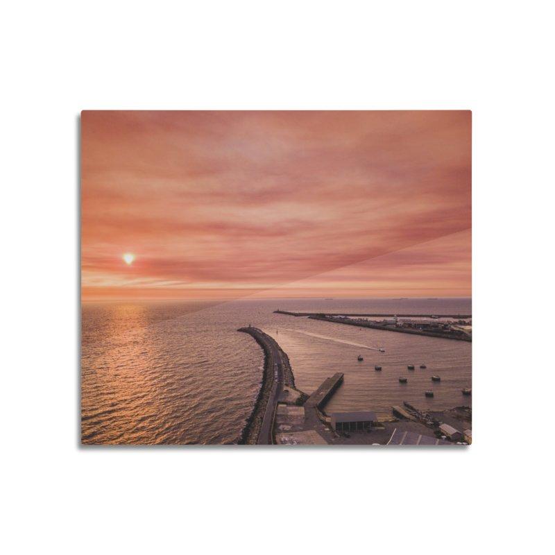 Sunset - Fremantle Home Mounted Aluminum Print by dronenr's Artist Shop