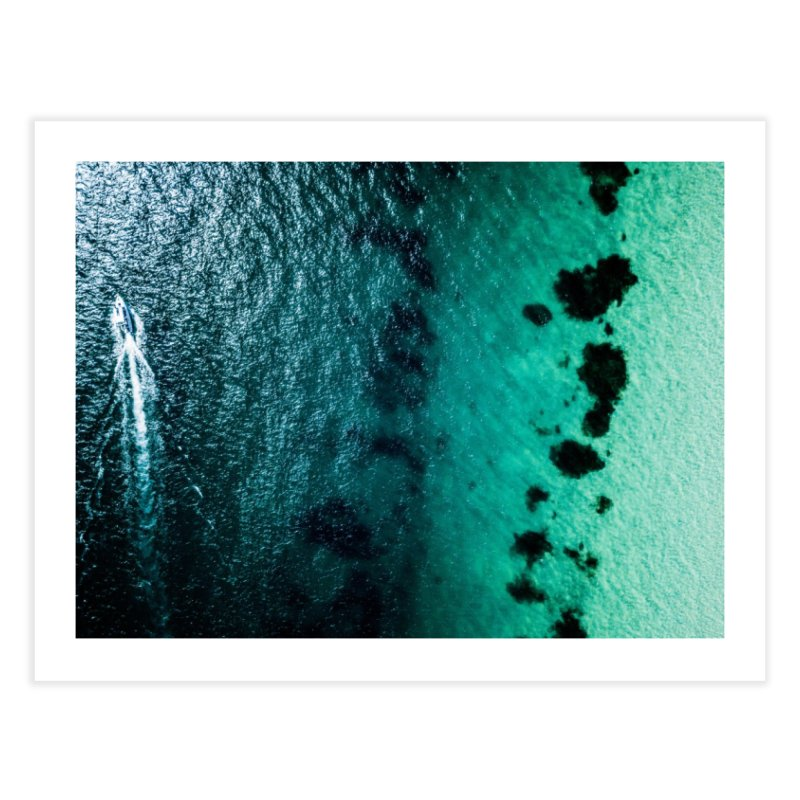 Two Tone Boat - Coogee Home Fine Art Print by dronenr's Artist Shop