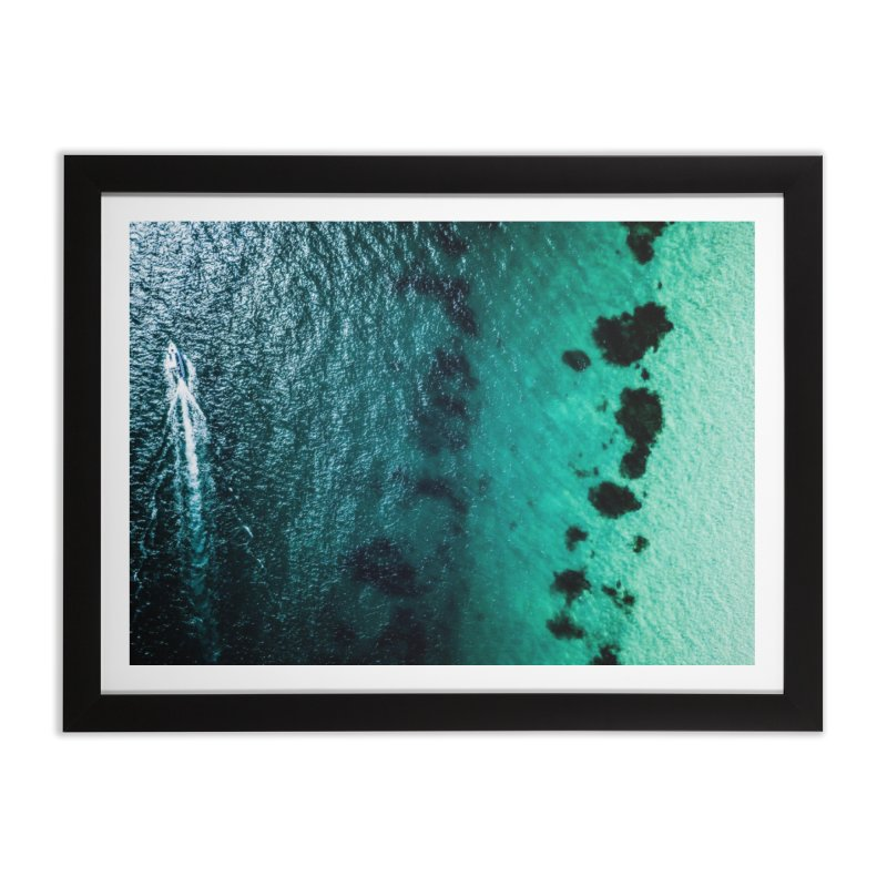 Two Tone Boat - Coogee Home Framed Fine Art Print by dronenr's Artist Shop