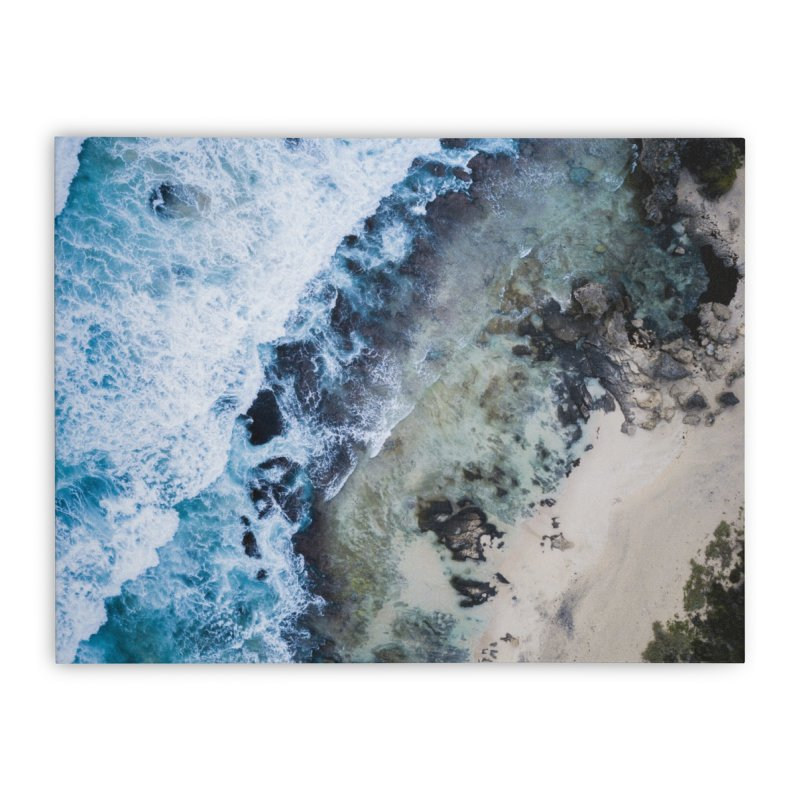 Waves Crashing - Yallingup Home Stretched Canvas by dronenr's Artist Shop