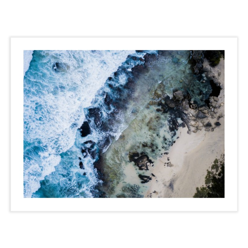 Waves Crashing - Yallingup Home Fine Art Print by dronenr's Artist Shop