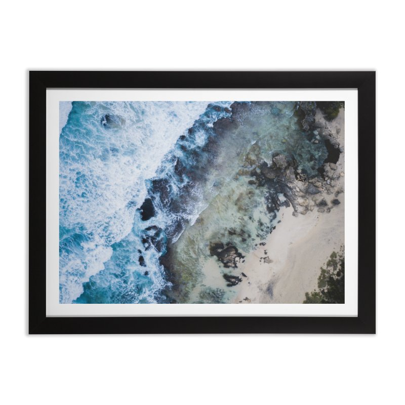 Waves Crashing - Yallingup Home Framed Fine Art Print by dronenr's Artist Shop
