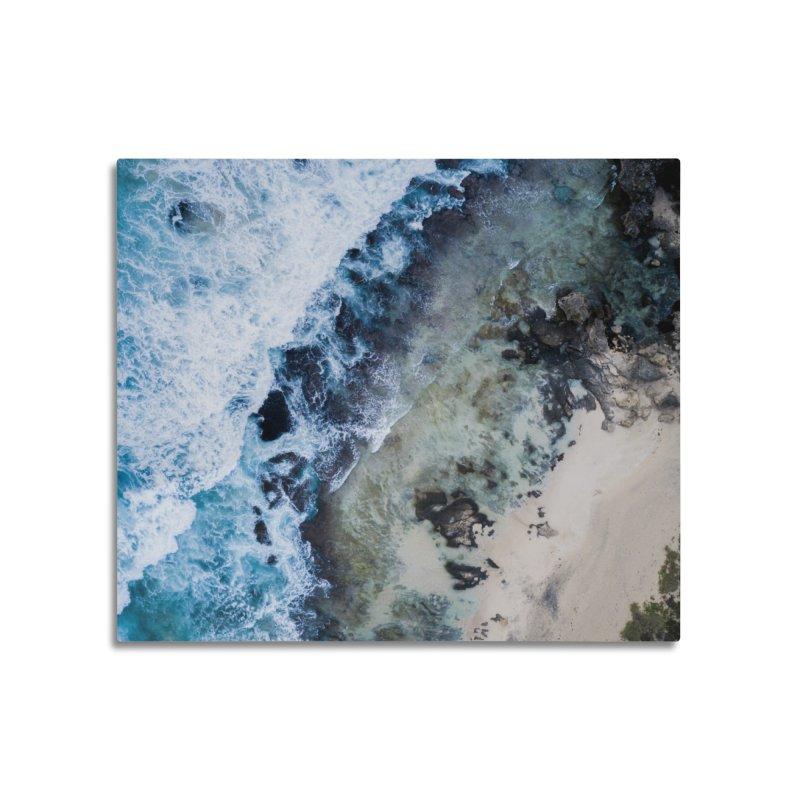 Waves Crashing - Yallingup Home Mounted Aluminum Print by dronenr's Artist Shop