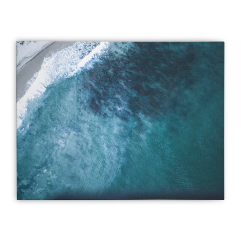 Waiting for a wave - Swanbourne Home Stretched Canvas by dronenr's Artist Shop