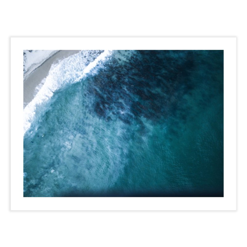 Waiting for a wave - Swanbourne Home Fine Art Print by dronenr's Artist Shop