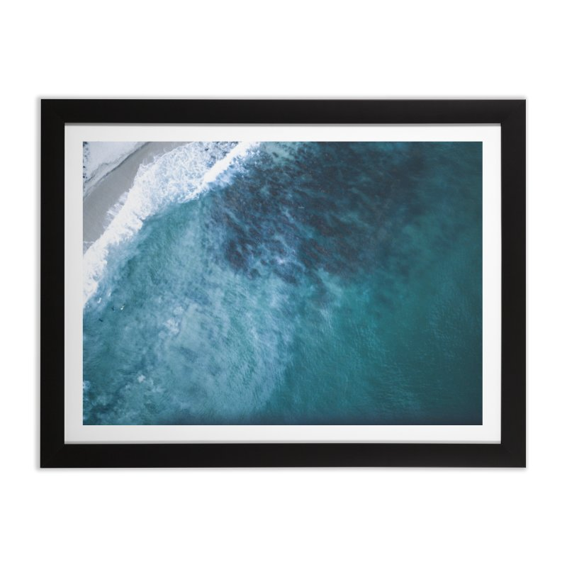 Waiting for a wave - Swanbourne Home Framed Fine Art Print by dronenr's Artist Shop