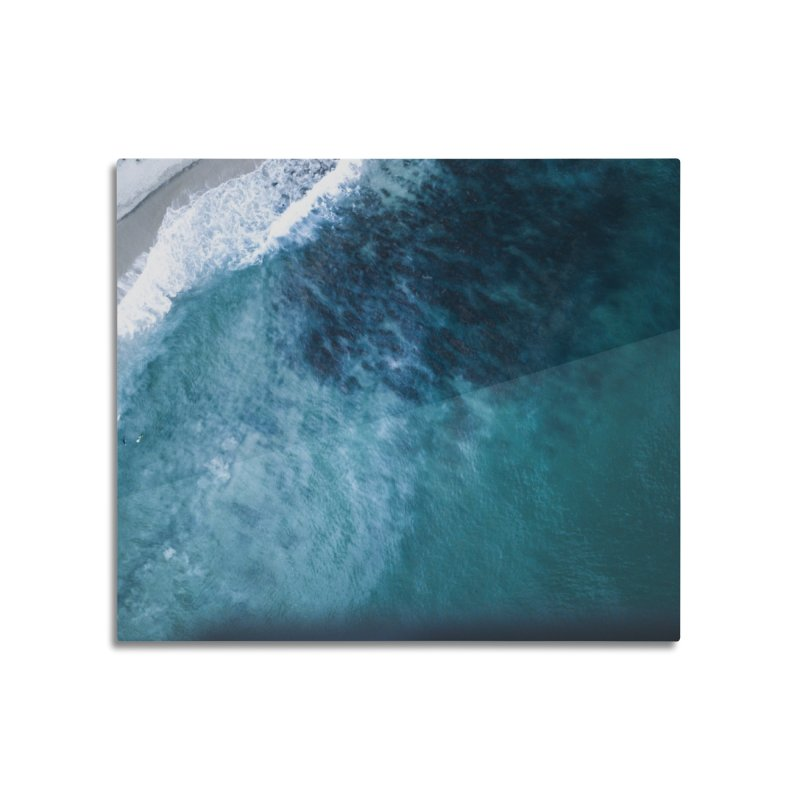 Waiting for a wave - Swanbourne Home Mounted Aluminum Print by dronenr's Artist Shop