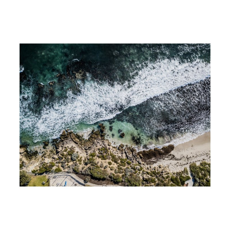 Waves - Scarborough Home Fine Art Print by dronenr's Artist Shop