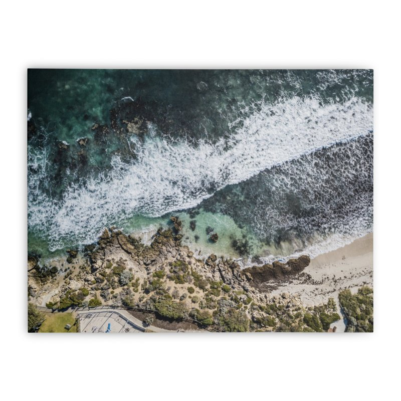 Waves - Scarborough Home Stretched Canvas by dronenr's Artist Shop