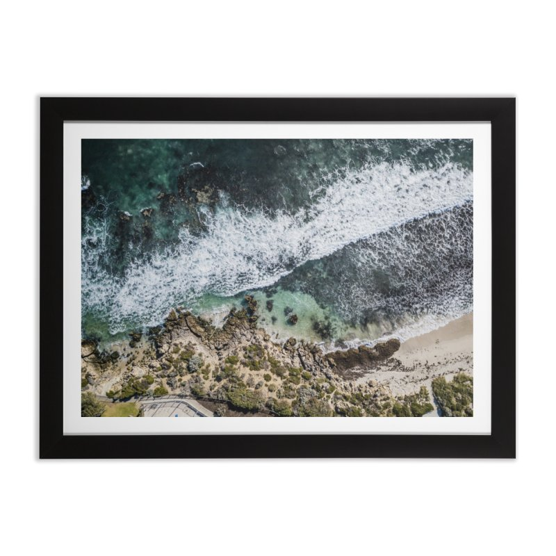 Waves - Scarborough Home Framed Fine Art Print by dronenr's Artist Shop