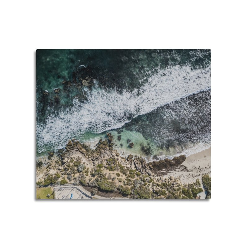Waves - Scarborough Home Mounted Aluminum Print by dronenr's Artist Shop