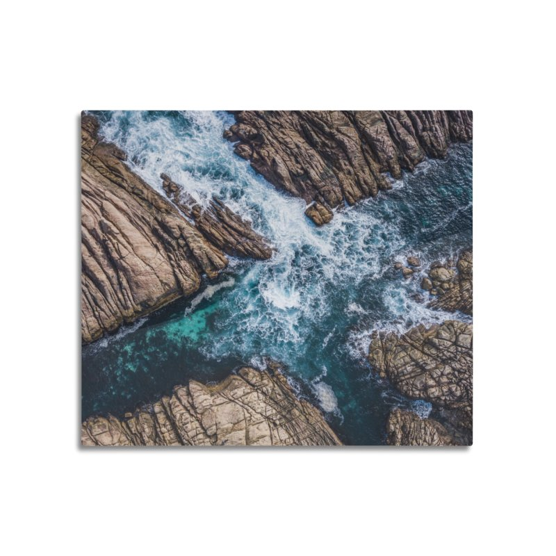 X marks the spot - Yallingup Home Mounted Aluminum Print by dronenr's Artist Shop
