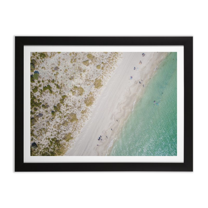 Two Tone Beach - Coogee Home Framed Fine Art Print by dronenr's Artist Shop