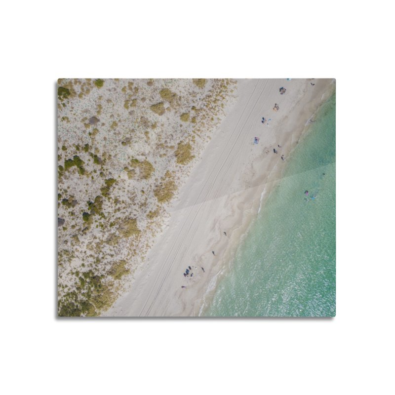 Two Tone Beach - Coogee Home Mounted Aluminum Print by dronenr's Artist Shop