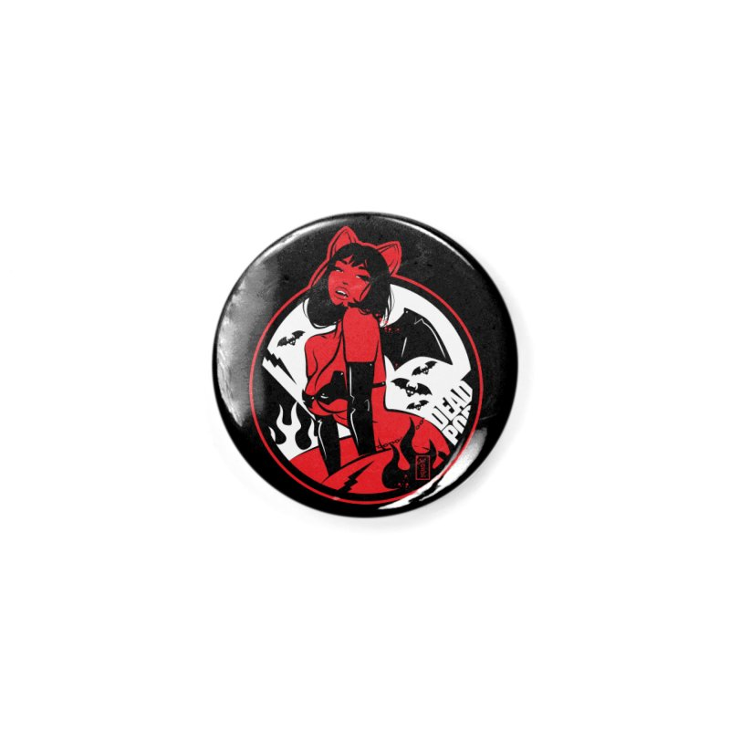 Sexy Vampire Bat Girl Accessories Button by Dead Pop Hell Shop