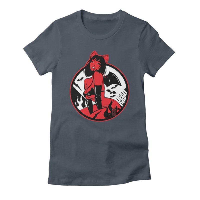 Sexy Vampire Bat Girl Women's T-Shirt by Dead Pop Hell Shop