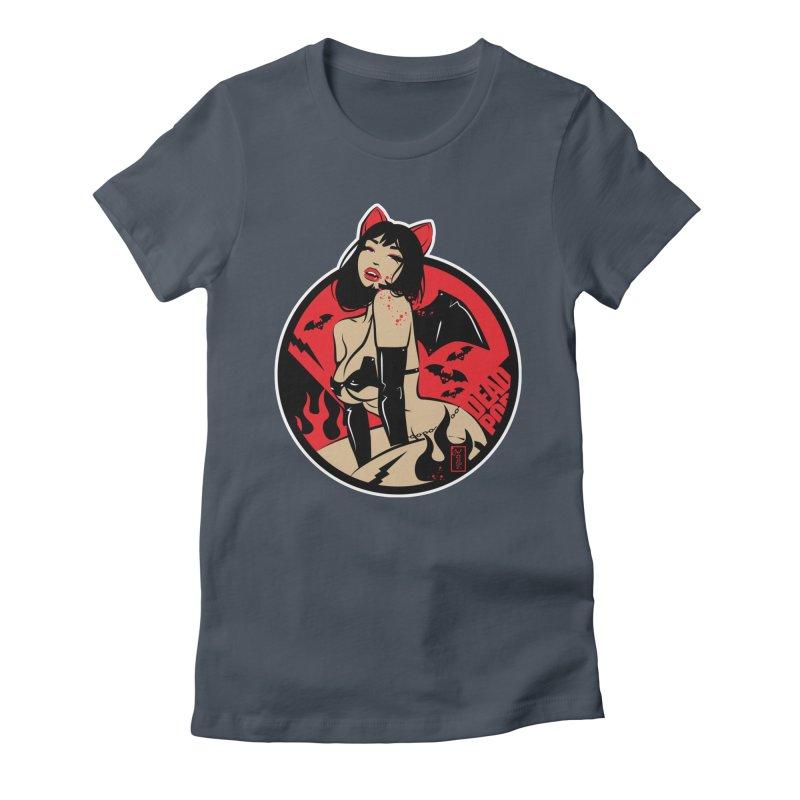 Sexy Vampire Bat Girl variant Women's T-Shirt by Dead Pop Hell Shop