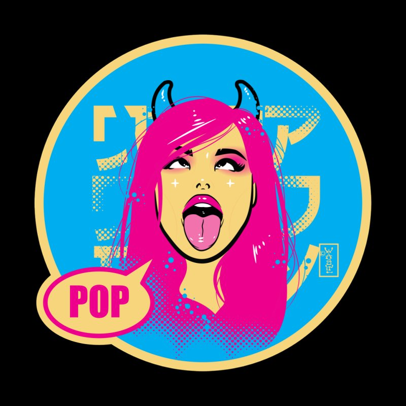 Ahegao eGirl (Cross-Eyed Tongue Out) POP version Accessories Button by Dead Pop Hell Shop