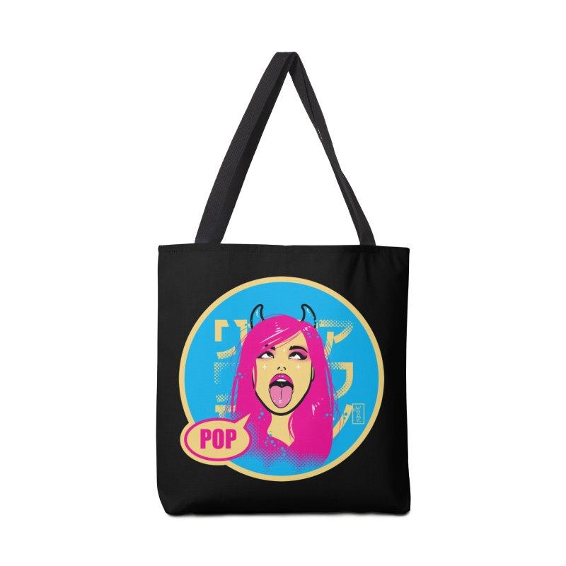 Ahegao eGirl (Cross-Eyed Tongue Out) POP version Accessories Bag by Dead Pop Hell Shop