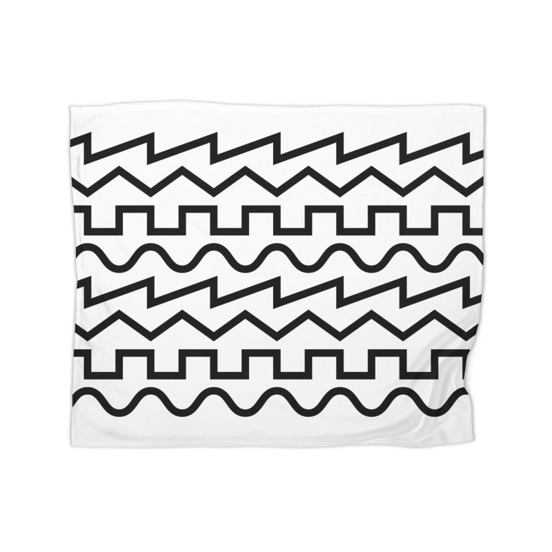 Synth Waves (Black) Home Blanket by DROP