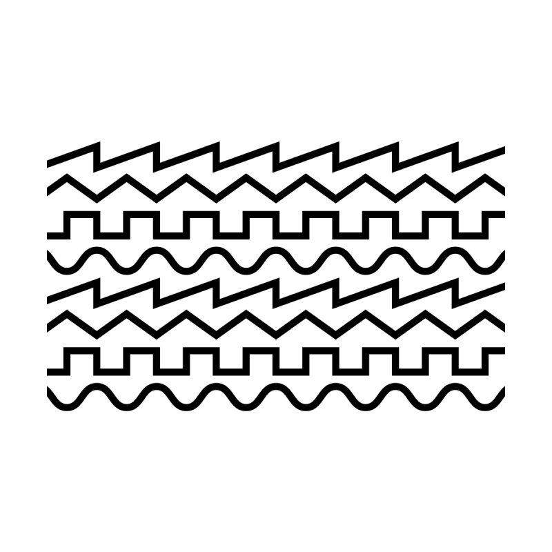 Synth Waves (Black) Men's T-Shirt by DROP