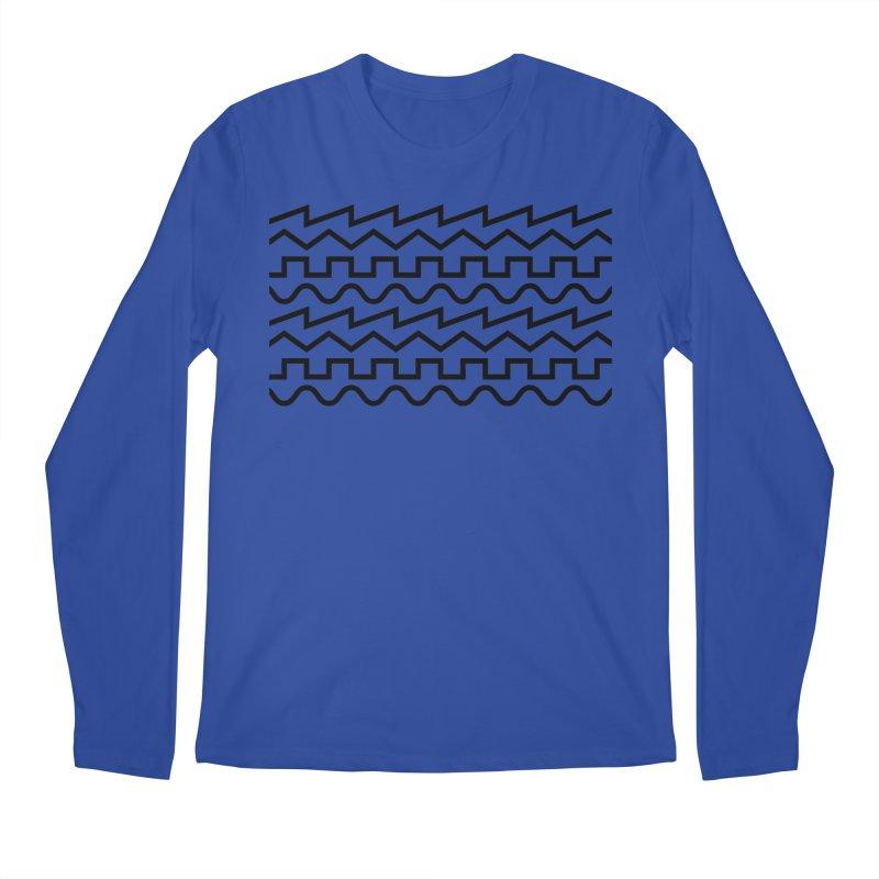 Synth Waves (Black) Men's Longsleeve T-Shirt by DROP
