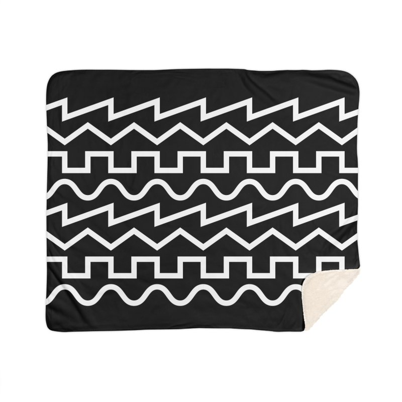 Synth Waves (White) Home Blanket by DROP