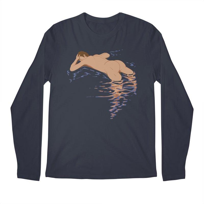 Man on water Men's Longsleeve T-Shirt by Dror Miler's Artist Shop