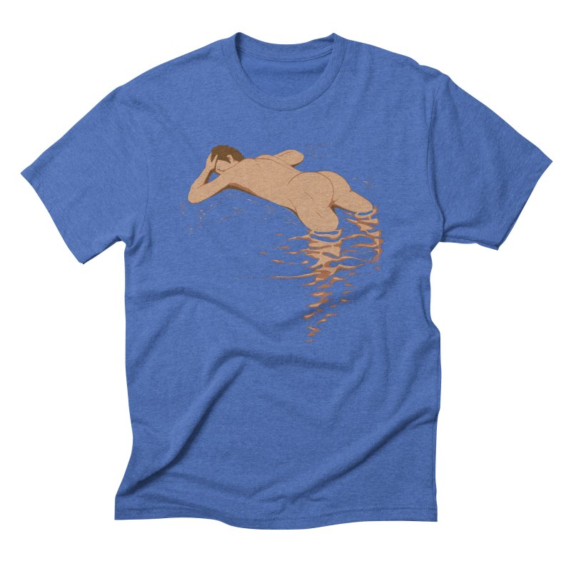 Man on water Men's Triblend T-Shirt by Dror Miler's Artist Shop