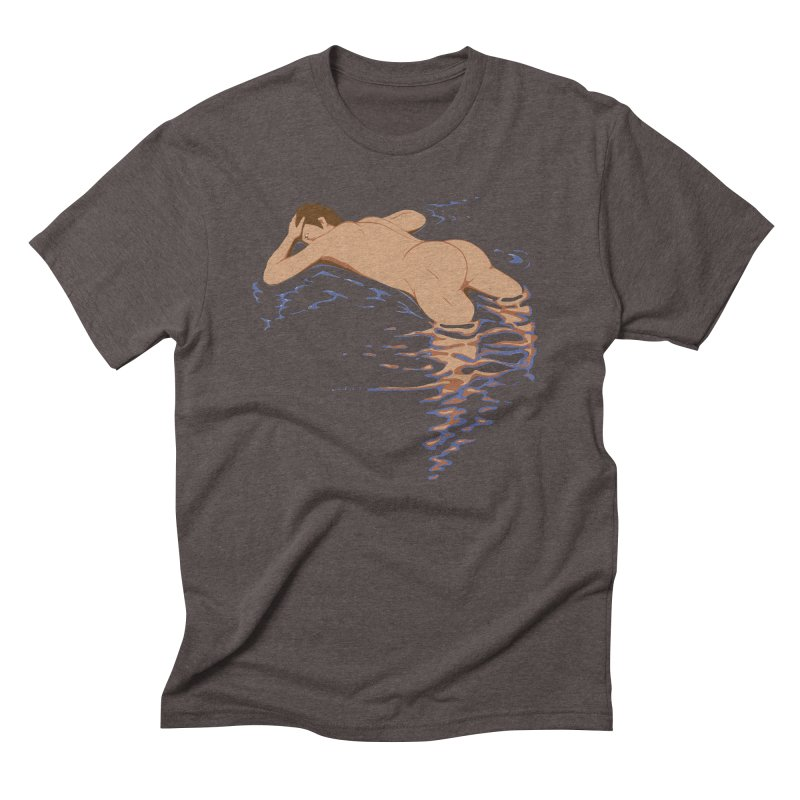 Man on water Men's Triblend T-Shirt by Dror Miler's Artist Shop