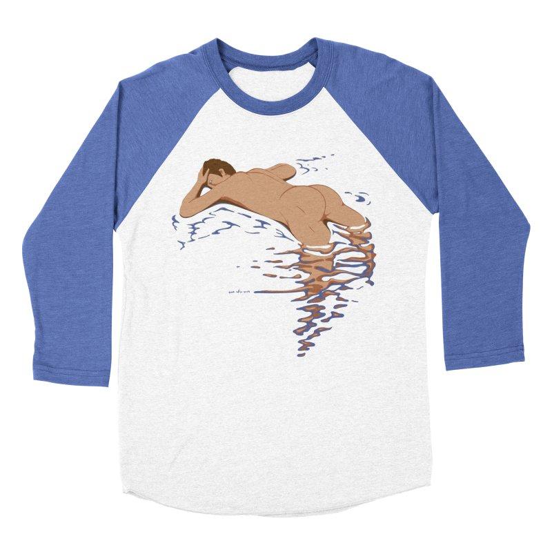Man on water Women's Baseball Triblend T-Shirt by Dror Miler's Artist Shop