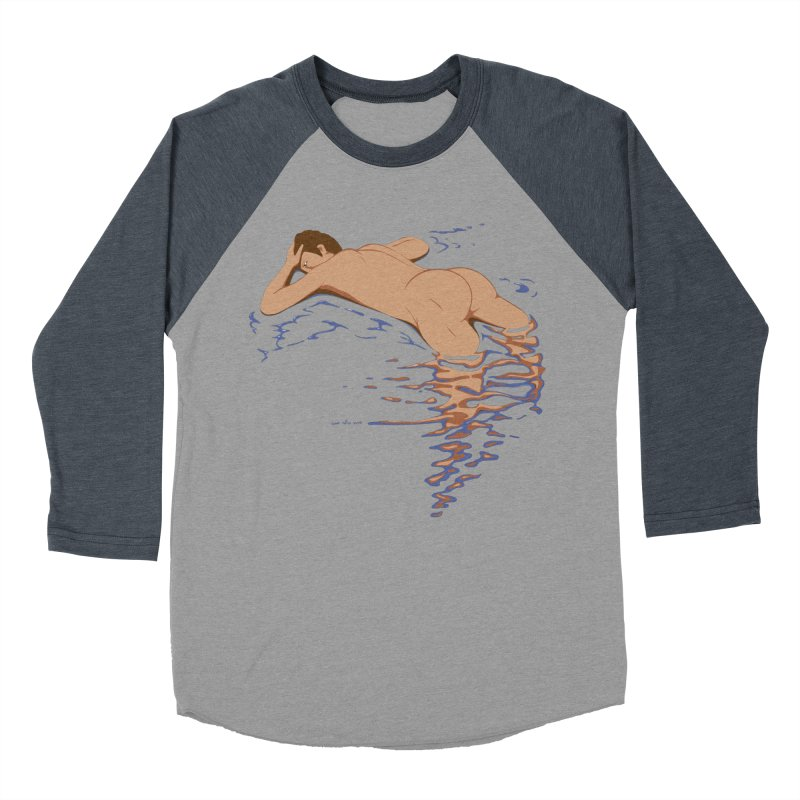 Man on water Men's Baseball Triblend T-Shirt by Dror Miler's Artist Shop