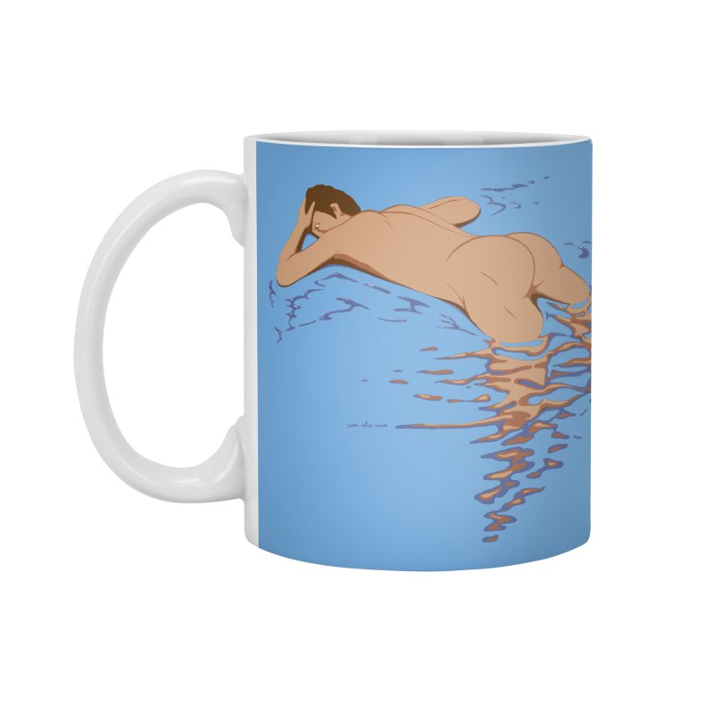 Man on water Accessories Mug by Dror Miler's Artist Shop