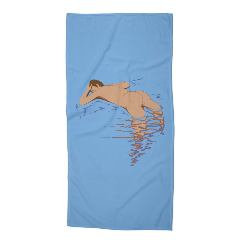 Man on water Accessories Beach Towel by Dror Miler's Artist Shop