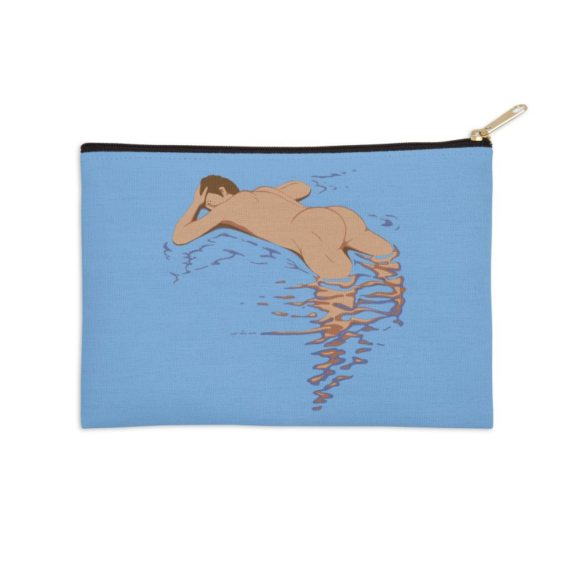 Man on water Accessories Zip Pouch by Dror Miler's Artist Shop
